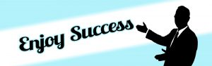 Word Enjoy Success On A Banner