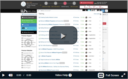 Wealthy Affiliate Back Office Walkthrough