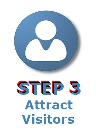 image with words step 3 attract visitors