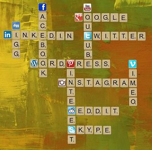 Small Tiles With Social Media Site Names