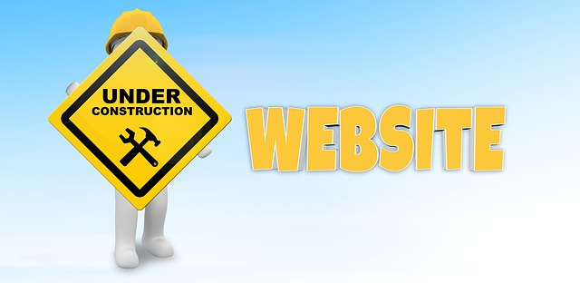 Sign With Under Construction Website