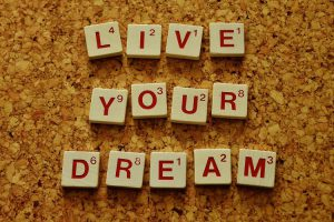 live your dream written on tiles