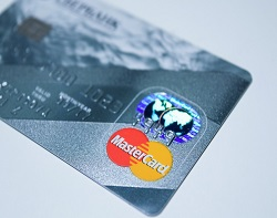 credit card showing payment method