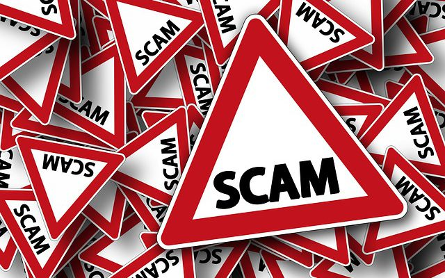 triangle signs with scam