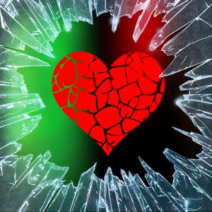 image of a shattered heart