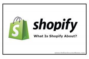 Green Bag With Shopify Logo