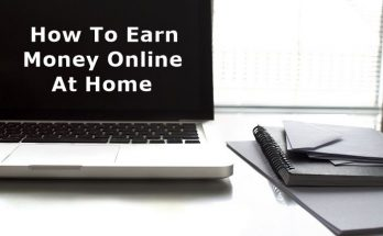 Laptop With How To Earn Money Online At Home