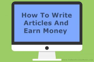 how to write articles and earn money