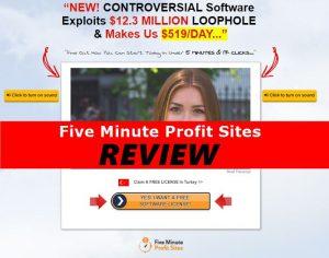 Screenshot of Five Minute Profit Sites Website