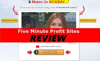Screenshot of Five Minute Profit Sites Website