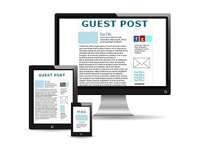 Computer screens with a guest post