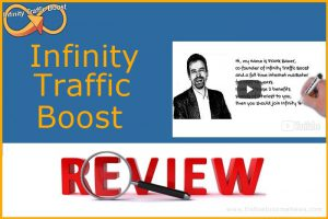 website screenshot with infinity traffic boost review