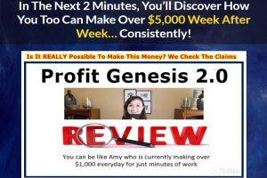 Screenshot of profit genesis website