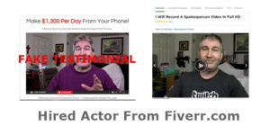 Fake Testimonial from fiverr.com