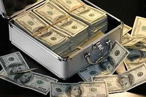 Metal Box full of dollars