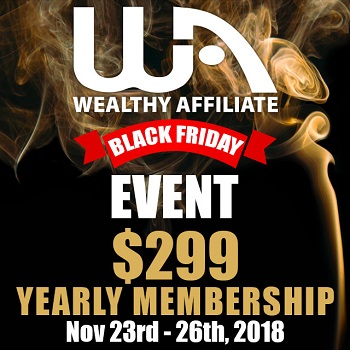 Wealthy affiliate black friday 2018 deal