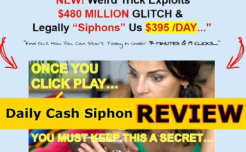Screenshot of Daily Cash Siphon site