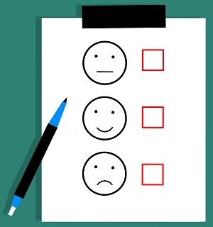 Survey Form on Clipboard