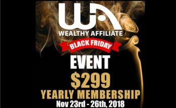 Wealthy Affiliate Black Friday Deal 2018 Banner