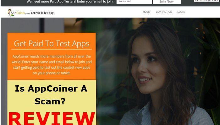 Screenshot of AppCoiner Site