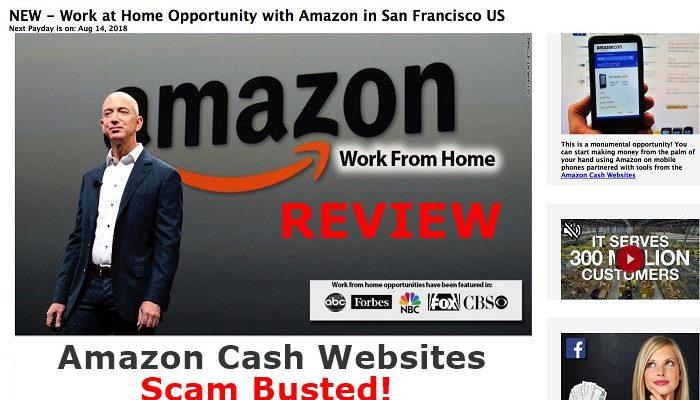 Amazon Cash Websites Scam