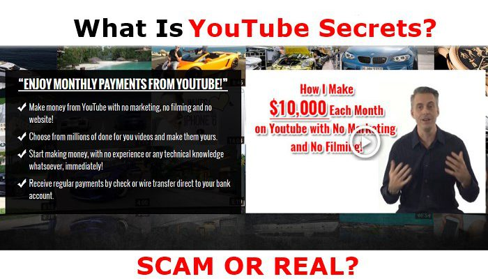 Screenshot of YouTube Secrets website page