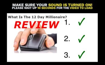 Screenshot of the 12 day millionaire website